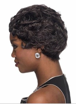 Best Selling Short Wavy Capless Synthetic Hair Wig 10 Inches