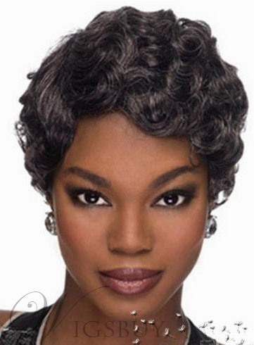 Best Selling Short Wavy Capless Synthetic Hair Wig 10 Inches 11487385