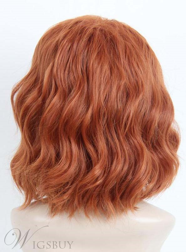 Elegant Cosplay Mid-length Wavy Synthetic Hair Capless Wig