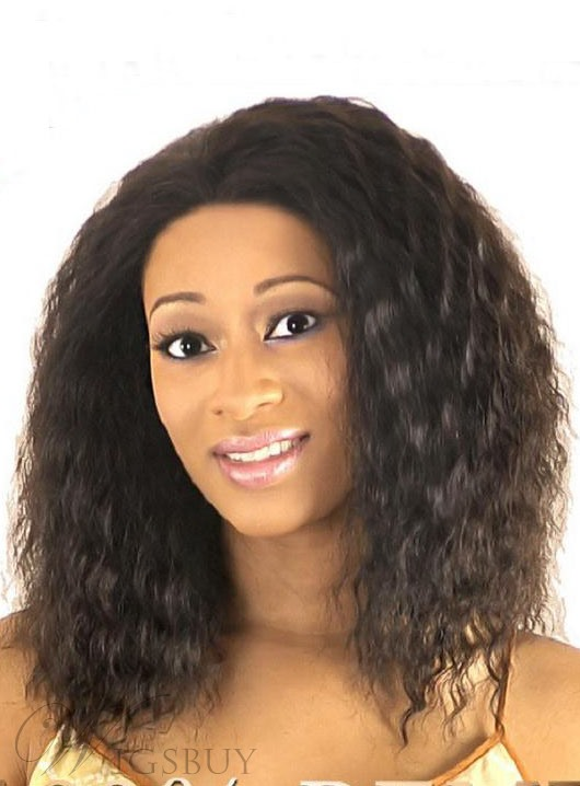 Hot Sale Medium Curly Capless Synthetic Hair Wig 16 Inches