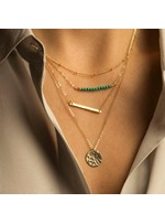 Multi-layer with Round Pendant Necklace