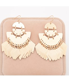 Euramerican Style with Alloy Tassel Earrings