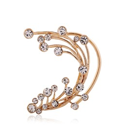 Branch Shaped with Rhinestone Ear Cuff