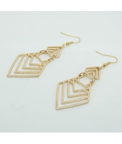 Hollow-out Geometrical Pattern Earrings