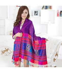 Bold Color with Tassels Women's Warm Scarf
