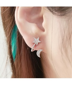 Moon & Star Shaped Alloy Ear Cuffs(Price for a Pair)