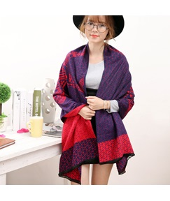 Flannelette Knitting Thick Long Scarf