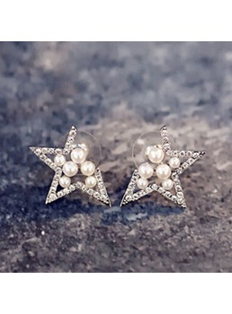 Stars with Beads Stud Earrings