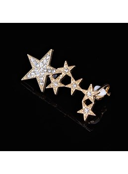 Five-pointed Star Rhinestone Decorated Ear Cuff