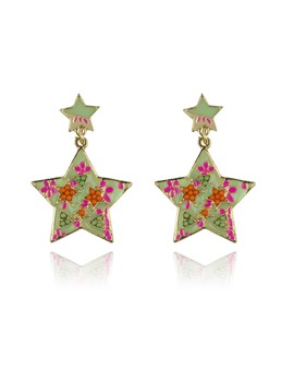 Five-pointed Star Shaped Earrings