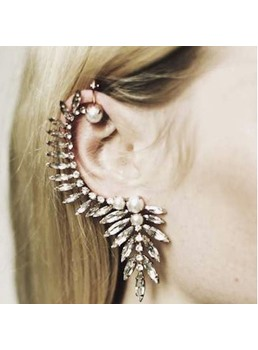 Decorato con strass taglienti punk Ear Cuff