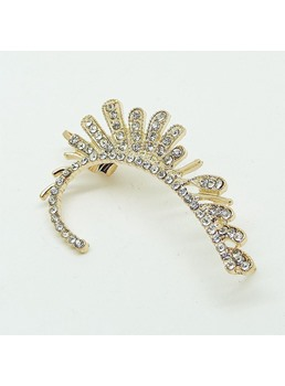 Decorato con strass a forma floreale in lega Ear Cuff