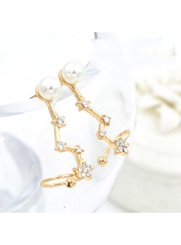 Brillanti strass & perla decorata Ear Cuff