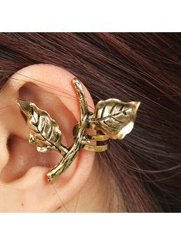 Leaves Decorated Alloy Ear Cuff