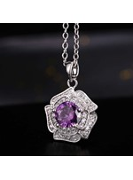 5 Color Rose Zircon Necklace