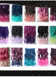 Attractive Colorful Long Wavy Synthetic Fun Hair 24 Inches