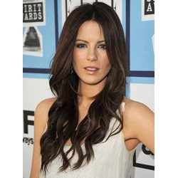 Attractive Long Loose Wavy Lace Front Cap Wig 100% Human Hair 22 Inches