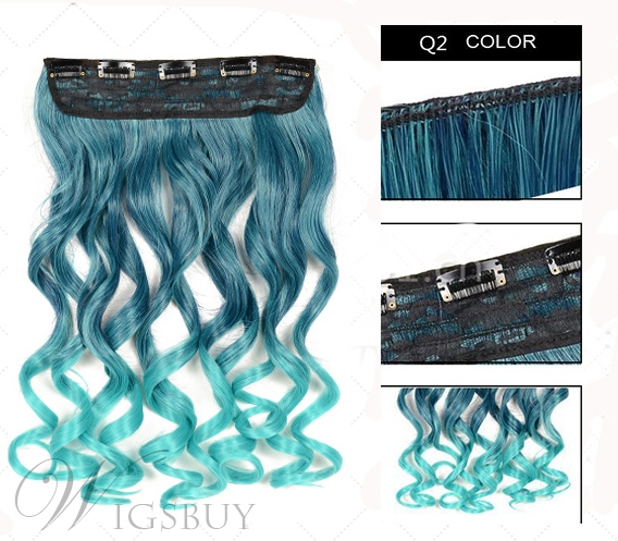 rhiana hair styles attractive colorful wavy synthetic hair 24 inches 7409