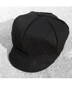 Black Cotton Octagonal Cap