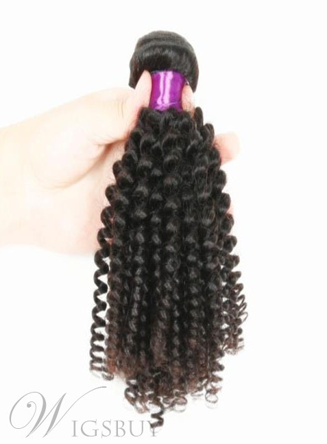 Top Quality Jerry Curly Virgin Hair Human Hair Weave 1 PC