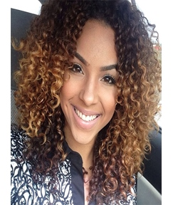 Curly Ombre 3 Tone Human Hair Weave/Weft 1 PC