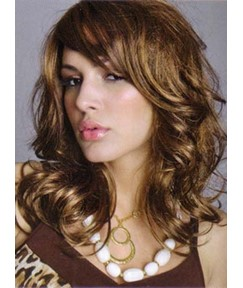 Charming Medium Big Wave Synthetic Hair Capless Wig 14 Inches