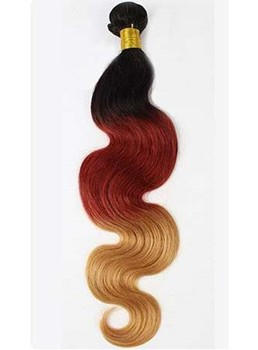 Ombre 3 Ton wellig Winered Human Haar Weben/Schuß 1 PC