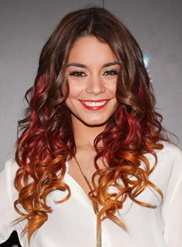 Ombre 3 Tone Wavy Winered Human Hair Weave/Weft 1 PC