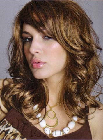 Charming Medium Big Wave Synthetic Hair Capless Wig 14 Inches 11537034