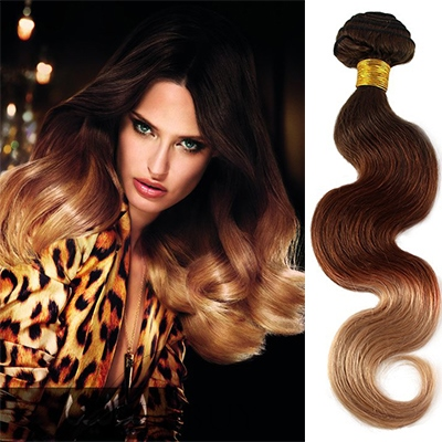 Attractive Wavy Human Hair Weave/Weft 1 PC