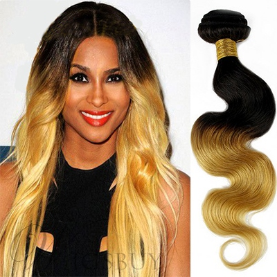 Ombre Body Wave Human Hair Weave One Bundle