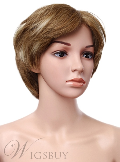 High Quality Full Lace Cap Human Hair Short Straight Wig 11548865