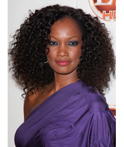 High Quality Fascinating African American Hair Style Long Curly Natural Black Lace Wig 100% Human Hair 16 Inches