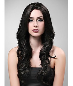 Magnificent Long Wavy Synthetic Hair Wig Capless 22 Inches