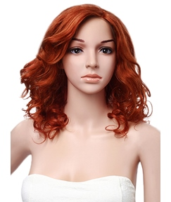 Attractive Medium Wavy Lace Front Human Hair Wig 14 Inches