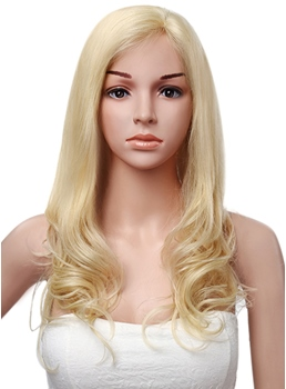 Pretty Long Wavy Lace Front Human Hair Wig 20 Inches