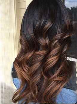 Ombre Color Wavy Human Hair Weave/Weft 1PC