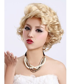 Unique Sexy Short Curly Synthetic Hair Capless Wig 10 Inches