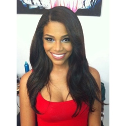Elegant Long Natural Wave Lace Front Human Hair Wig 20 Inches