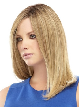 Beautiful Natural Long Straight Blonde 16 Inches Synthetic Hair Capless Wig
