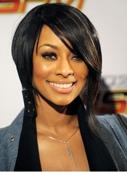 Keri Hilson Short Straight Lace Front Human Hair Wig 10 Inches