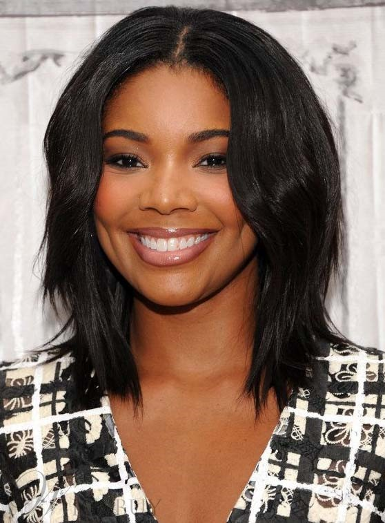 Charming Gabrielle Union Medium Wavy Lace Front Human Hair ...Gabrielle Union Weave Hairstyles