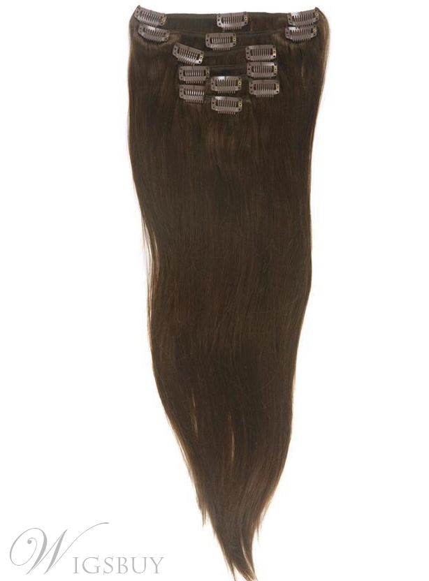 Human Hair 7 PCS Clip In Hair Extensions