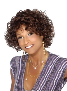 Elegant Short Curly Capless Synthetic Hair Wig 10 Inches