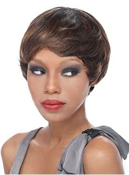 Sexy Short Straight Capless Synthetic Hair Wig 8 Inches