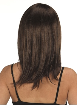 Pretty Medium Straight Capless Synthetic Hair Wig 16 Inches