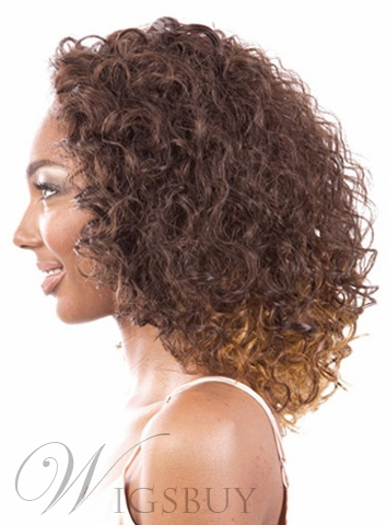 High Quality Medium Curly Capless Synthetic Hair Wig 12 Inches