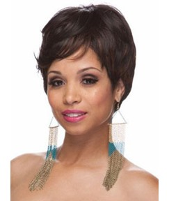 Top Quality Short Straight Capless Synthetic Hair Wig 8 Inches