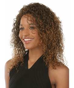 Top Quality Medium Curly Capless Synthetic Hair Wig 12 Inches
