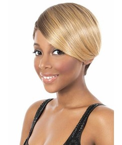 Unique Cool Short Straight Capless Synthetic Hair Wig 10 Inches